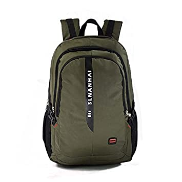 Male large business casual computer backpack multifunctional schoolbag,Army green