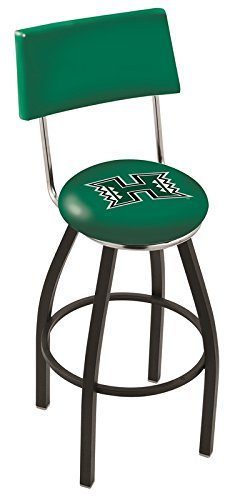 30 L8B4 - Black Wrinkle Hawaii Swivel Bar Stool with a Back by Holland Bar Stool Company by Holland Bar Stools by Holland Bar Stools