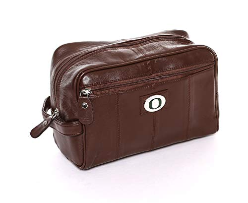 MTC Marketing NCAA Oregon Ducks Brown Leather Shave Kit, Team Color, 6