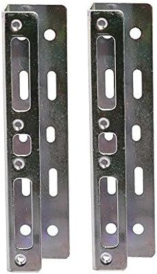 "Syba 2.5/"" HDD Mounting Bracket Kit for 3.5/"" Floppy Bay 1.00 mm metal strips"