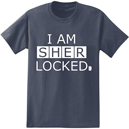 BBC Sherlock I Am Sherlocked Men's T-Shirt (Large, Navy)