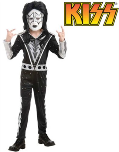 [KISS Band - Spaceman Child Costume Size 4-6 Small] (Rock And Roll Costume For Kids)