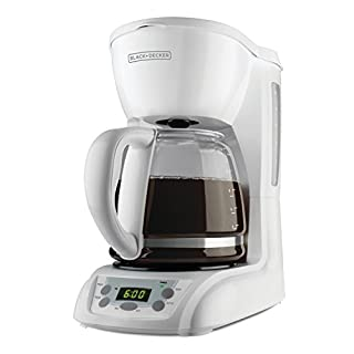 BLACK+DECKER 12-Cup Programmable Coffeemaker with Glass Carafe, White, DLX1050W (B002C3T8Q0) | Amazon price tracker / tracking, Amazon price history charts, Amazon price watches, Amazon price drop alerts