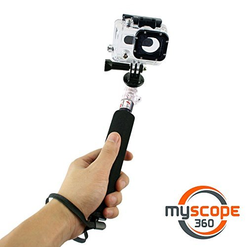 "UPC 787421998214, Monopod for GoPro Hero! - Waterproof GoPro Mount with Telescoping Extension Pole - Best Monopod Pole for GoPro Hero - Extends from 12"" to 37"" - Also Known As ""Selfie Stick"" - Interchangeable with other Mounts (iPhone, Samsung, DSLR, etc.) - Free eBook Guide - ""10 Best Places to Spend a Day Outdoors: 2015 Edition"" - Limited Time Price!"