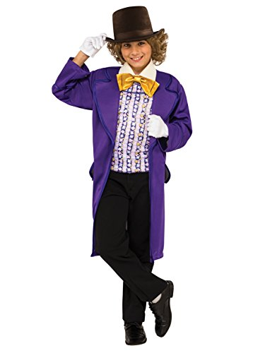 Rubie's Costume Kids Willy Wonka & The Chocolate Factory Willy Wonka Value Costume, Large]()