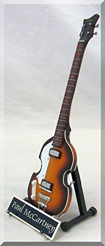 PAUL McCARTNEY Miniature Guitar Bass Hofner w/ Name Tag by ARTSTUDIO35
