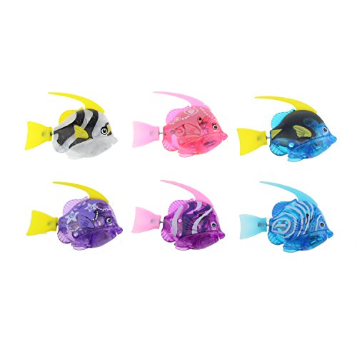 Tipmant Mini Cute Electric Fish Animal Pets Goldfish Swim in Water Tank, Bathtub, Pool with Light Ba - http://coolthings.us