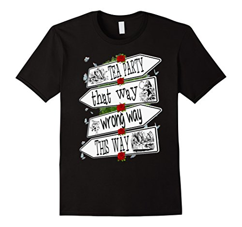 Mens Alice in Wonderland-Men Women Kids T Shirt 2XL Black