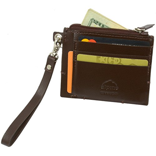 Alpine Swiss Women's RFID Mini Wristlet Wallet Leather Car