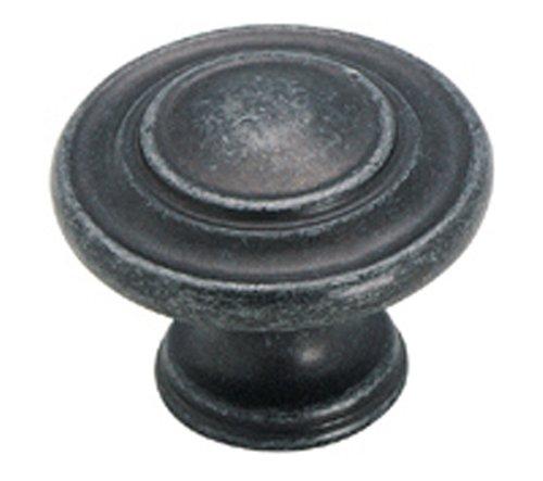 Amerock BP1586-WID Inspirations 3-Ring 1-3/8-Inch Diameter Knob, Wrought Iron - Iron Furnishings Wrought