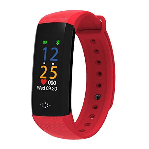 """Price comparison product image Boofab Smart Sports Bracelet,  M2P Fitness Tracker with Blood Pressure Blood Oxygen Heart Rate Sleep Monitor, Waterproof IP67 Colorful UI 0.96""""OLED Smart Watch (red)"""