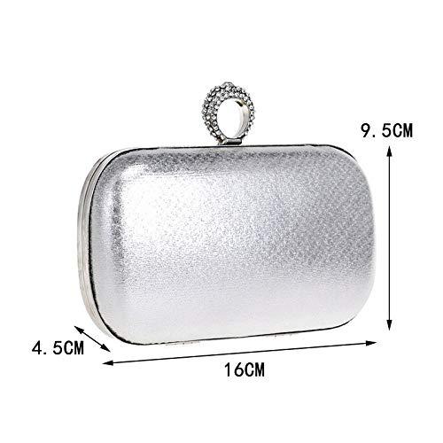 Evening Silver Bag Banquet Hand GROSSARTIG Dinner Ladies Bag Bag zqBR6na