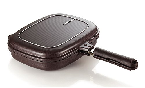 Happycall PLASMA Titanium Coating Double Grill Pan IH (Induction) Compatible New Version (Jumbo (11.8