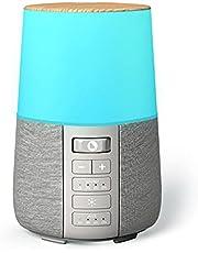 Aroma Diffuser Aromatherapie met White Noise Natuurlijke Geluiden en 6 Kleuren LED Lamp, Diffuser Etherische Olie