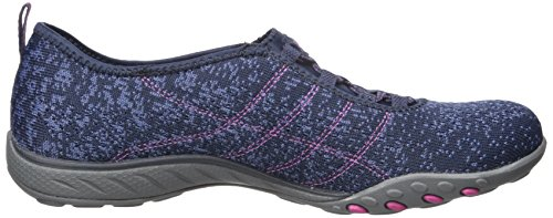 Skechers Sport Frauen atmen Easy Fortune Fashion Sneaker Marine / Blue Mesh / Fuchsia Trim