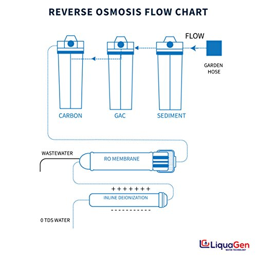 Liquagen 5 Stage Reverse Osmosis Deionization Ro Di