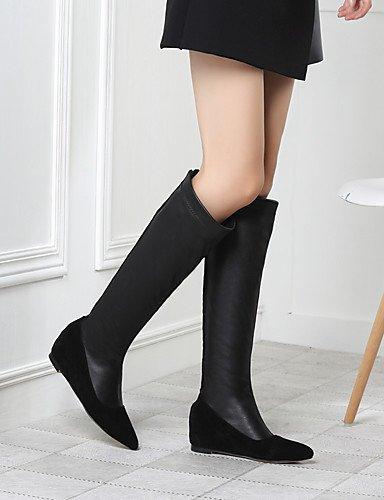 GGX/ Damen-High Heels-Kleid / Lässig-Kunstleder-Keilabsatz-Spitzschuh / Reitstiefel-Schwarz / Grün green-us4-4.5 / eu34 / uk2-2.5 / cn33