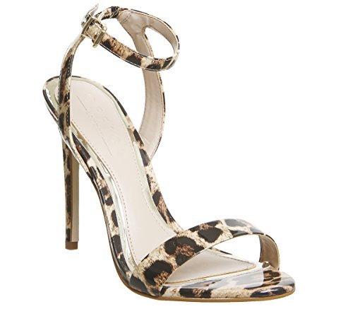 Office Alana Single Sole Sandals Leopard Patent Leather KH9WAE