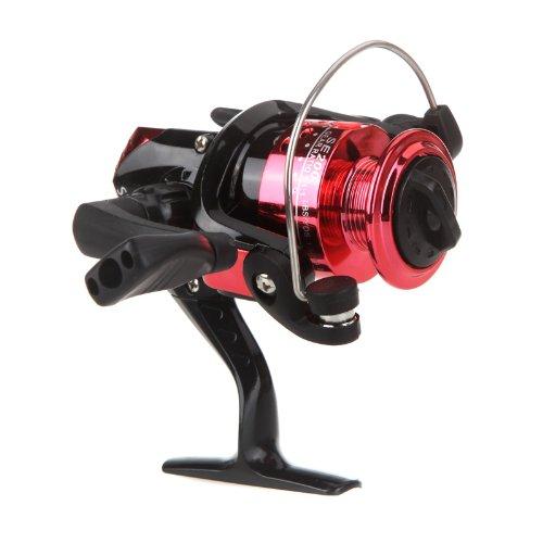 1Pc 3 BB Collapsible Fishing Reels 5.2: 1 Carp Fishing Spinning Reel Pesca Fishing Reel (Red)