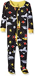Petit Lem Boys\' Footed Pajamas, Spaceship, 18M