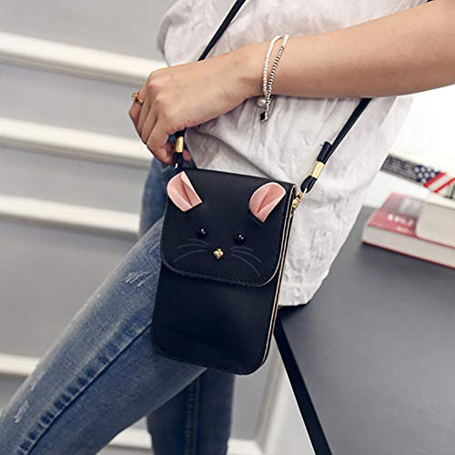 Body Cross heaven2017 Shoulder Purse Artificial Leather Mini Wallet Bag Grey Cartoon Mouse Women qxwOY0fwH