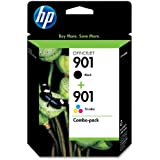 HP 901 Black & Tri-color Original Ink Cartridges, 2 pack (CN069FN)