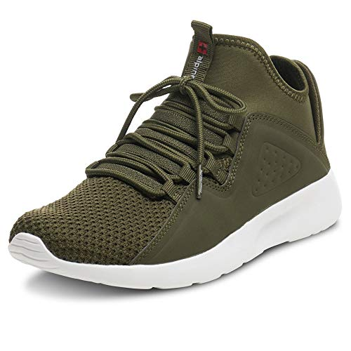 - alpine swiss Enzo Mens Fashion Sneakers Lightweight Knit Lace Up Tennis Shoes Olive 9 M US