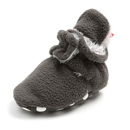 BENHERO Baby Booties Infant Baby Boys Girls Slippers Winter Booties with Grippers Stay On Socks Newborn Crib Baby Socks