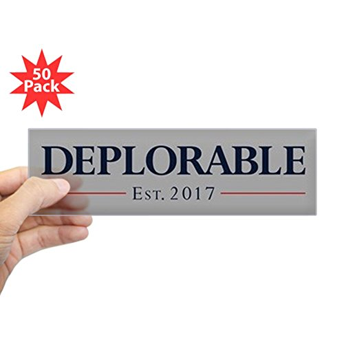CafePress - Deplorable Est 2017 - Sticker (Bumper 50 pk) -