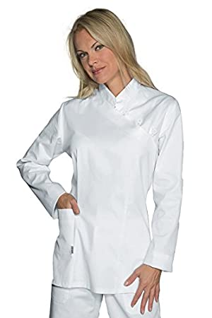 100/% Cotone S Isacco Casacca Taipei Bianco Bianco Manica Lunga