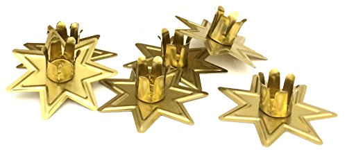 Brass Star Holder - Biedermann & Sons Star Taper Candle Holders (Box of 100), Brass