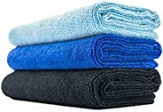 THE RAG COMPANY (3-Pack) 16 in. x 27 in. Sport, Gym, Exercise, Fitness, Spa & Workout Towel - Ultra Soft,
