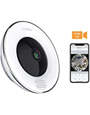 Lensoul Security Wifi Camera 1536P Wireless IP Camera 360 Degree Fisheye Home Camera Built in Two-Way Audio Motion Detection Panoramic Camera with Night Vision Cloud Service Available