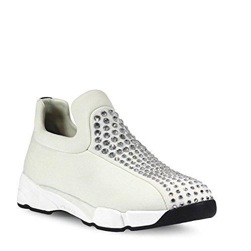 Pinko Ladies 1h209yy2kpz04 Bianco Altri Materiali Scivolano Sulle Sneakers