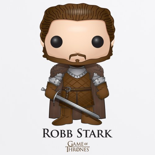 Official Game of Thrones - Funko POP Robb Stark Camiseta, Para mujer Blanco