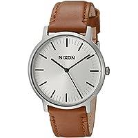 Nixon Men's 'Porter' Quartz Leather Watch, Color:Brown (Model: A10582442-00)