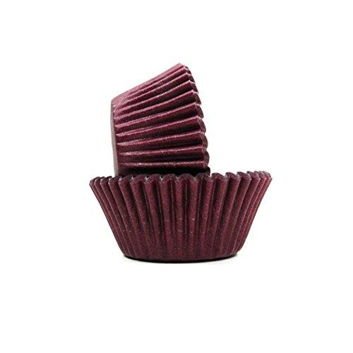 Burgundy Cupcake Wrappers (Regency Wraps (REGAG) RW0050 RW0047 Regency Wraps Greaseproof Baking Cups, Standard, Burgundy,)