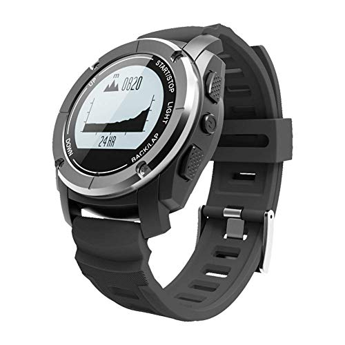 Bluetooth Smart Watch para exteriores Frecuencia cardíaca a base de muñeca Construido en barómetro termómetro altímetro...
