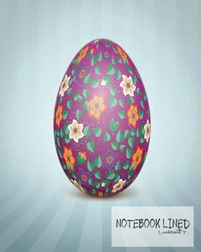 Notebook: The Easter egg with an Ukrainian folk pattern ornament : Notebook Journal Diary, 120 pages, 8
