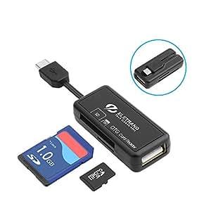 Eletrand Lector de Tarjetas Micro USB OTG, Lector de