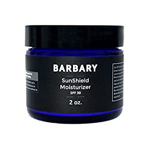 Mens Face Moisturizer with SPF 30. 3-in-1 Anti-Aging Face Cream, Aftershave, and Mineral Suncreen. All Natural Non-Greasy formula for Sensitive Skin.