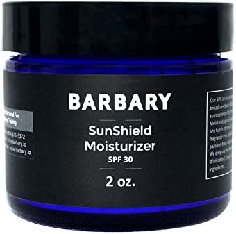 Natural & Organic Face Sunscreen - SPF 30 Sun Block - Zinc Mineral Non Nano Sun Screen. Best Daily Use Facial Sunblock For Sensitive Skin