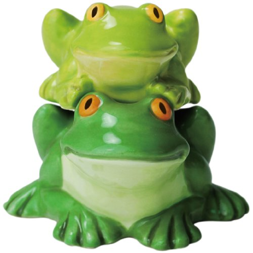 gnetic Ceramic Salt and Pepper Shaker Set, 2.75-Inch, Mwah Getting Froggity, Set of 2 ()