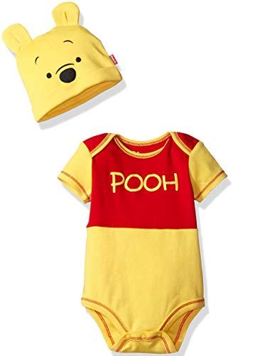 Disney Boys' Winnie the Pooh Bodysuit with Cap Set, Yellow, 6/9M]()