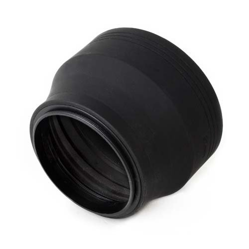 JJC 3-in-1 Collapsible Soft Rubber Lens Hood for Camera Lens with 72mm Filter Thread
