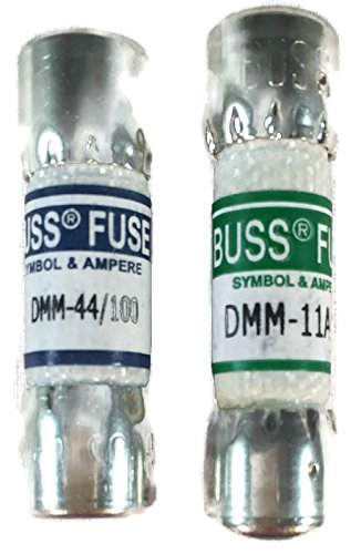 Combo pack: 1 piece Fluke 803293 11 Amp 1000V and 1 piece Fluke 943121 440mA 1000V Fluke Digital Multimeter Replacement Fuse