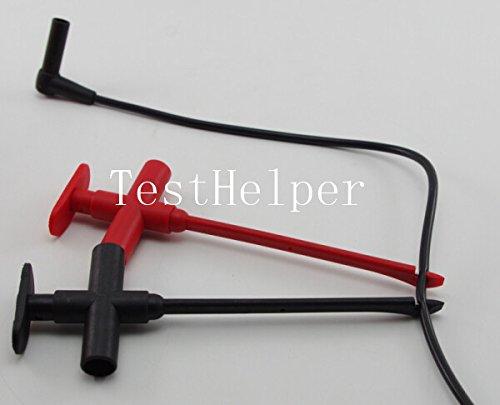 TestHelper TP140 4mm Banana Socket Insulation Piercing Clip Hooks Test Probe Alligator Clamp Banana Jack Spring Loaded Copper (Piercing Set Clip)