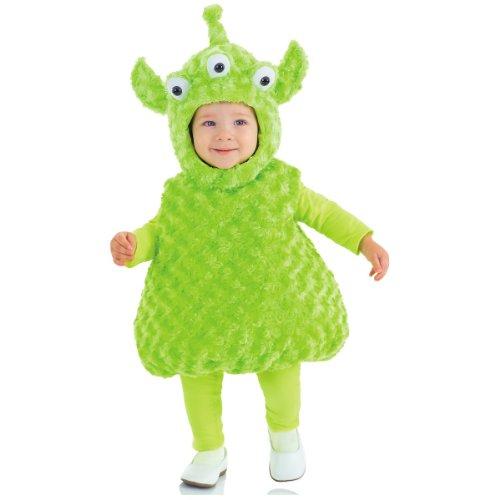 Underwraps Baby's Alien Belly-Babies, Green, Large