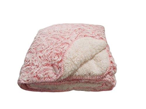 Regal Comfort Sherpa Luxury Throw Rose Print, Pink 50in.x70in 50 Pink Roses