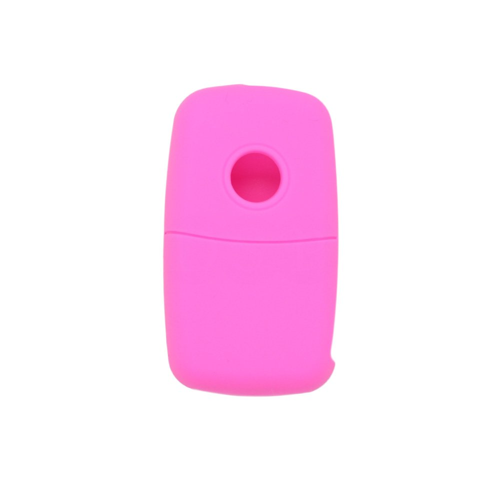 SEGADEN Silicone Cover Protector Case Skin Jacket fit for VOLKSWAGEN SEAT SKODA 3 Button Flip Remote Key Fob CV9800 Light Green
